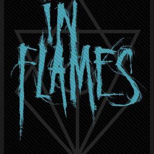 In Flames Scratched Logo Kangasmerkki 100% Polyesteria