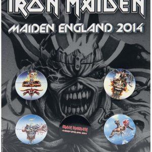 Iron Maiden England 2014 Rintanappisetti