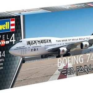 Iron Maiden Lentokone-Pienoismallin Rakennussarja 1/144 Boeing 747-400 Ed Force One Book Of Souls Tour Pienoismallin Rakennussarja Valkoinen-Musta