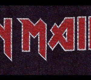 Iron Maiden Logo Kangasmerkki 100% Polyesteria