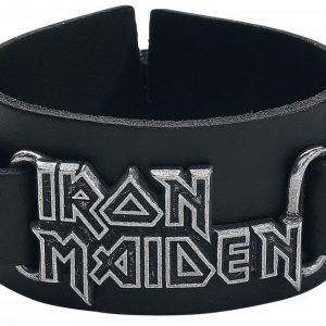 Iron Maiden Logo Nahkaranneke