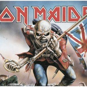 Iron Maiden Trooper Aamiaislauta Melamiinia / Litteää Laminaattia