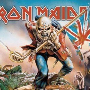 Iron Maiden Trooper Seinälippu 100% Polyesteria