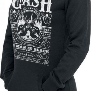 Johnny Cash Whiskey Label Naisten Huppari