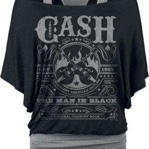 Johnny Cash Whiskey Label T-paita