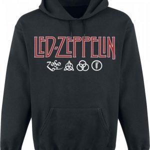 Led Zeppelin Logo & Symbols Huppari