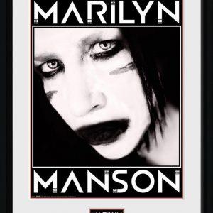 Marilyn Manson Face Kehystetty Kuva Muovia