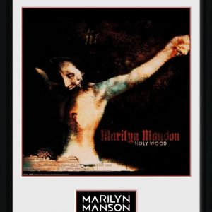 Marilyn Manson Holy Wood Kehystetty Kuva Muovia