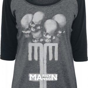 Marilyn Manson Skull Cross Pitkähihainen Paita