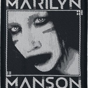 Marilyn Manson Villain Kangasmerkki Musta