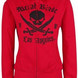 Metal Blade Pirate Logo Naisten Vetoketjuhuppari