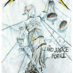 Metallica ...And Justice For All Seinälippu 100% Polyesteria