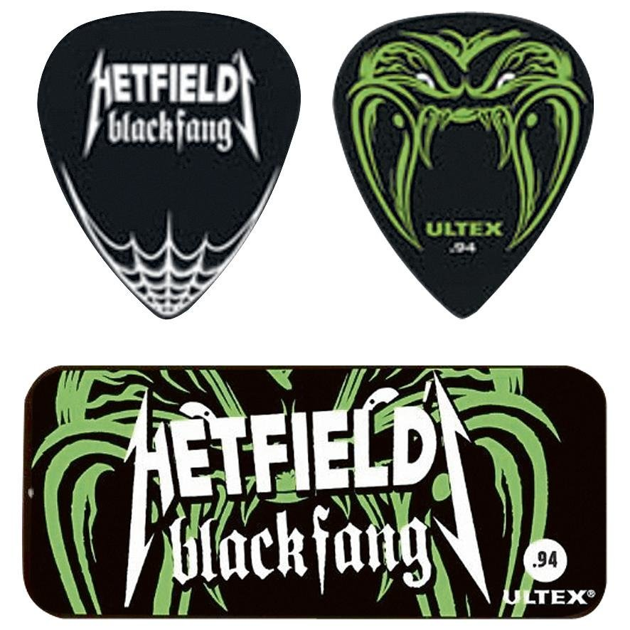 Metallica Dunlop Hetfield Black Fang Pick Tin Plektrasetti