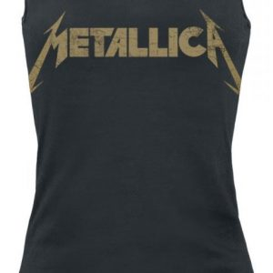 Metallica Hetfield Iron Cross Guitar Naisten Toppi