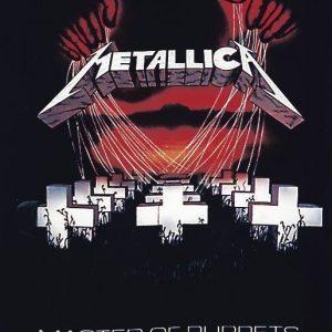 Metallica Master Of Puppets Seinälippu 100% Polyesteria