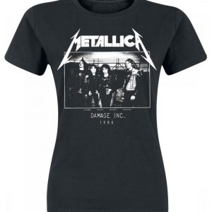Metallica Master Of Puppets Tour 1986 Photo Naisten T-paita