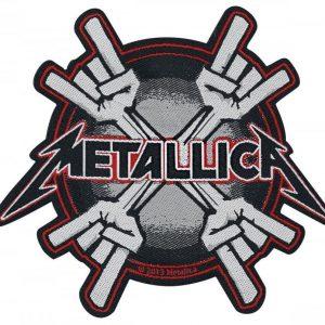Metallica Metal Horns Kangasmerkki 100% Polyesteria