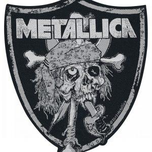 Metallica Raiders Skull Kangasmerkki 100% Polyesteria