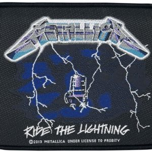 Metallica Ride The Lightning Kangasmerkki 100% Polyesteria