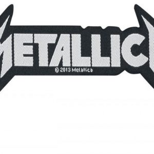 Metallica Shaped Logo Kangasmerkki 100% Polyesteria