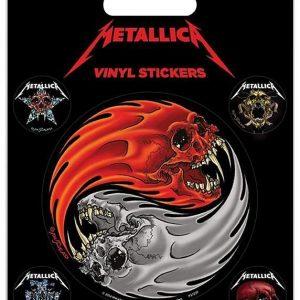 Metallica Yin Yang Skulls Tarrasetti Vinyyliä