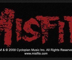 Misfits Cross Bones Kangasmerkki 100% Polyesteria