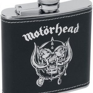 Motörhead Hip Flask Logo Taskumatti Hopea-Musta