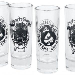 Motörhead Logo Shottilasisetti Lasia