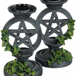 Nemesis Now Aged Pentagram Candlesticks Kynttilänpidike