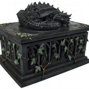 Nemesis Now Dragon Tarot Card Box Koristeartikkeli