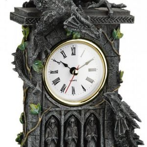 Nemesis Now Duelling Dragons Clock Kello
