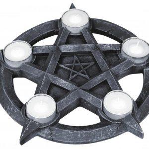 Nemesis Now Pentagram Tealights Tuikkupidike
