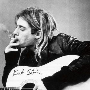 Nirvana Kurt Cobain Guitar Juliste Paperia