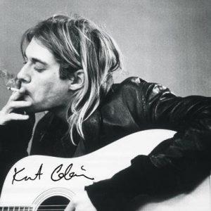 Nirvana Kurt Cobain Guitar Seinälippu 100% Polyesteria