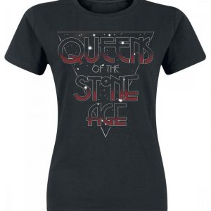 Queens Of The Stone Age Space Logo Naisten T-paita