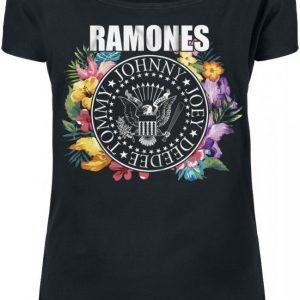 Ramones Floral Circle Seal Naisten T-paita