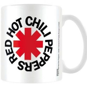 Red Hot Chili Peppers Logo White Muki Valkoinen