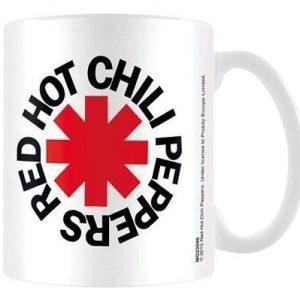 Red Hot Chili Peppers Logo White Muki Valkoinen