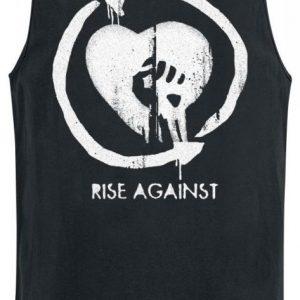 Rise Against Heart Logo Tank-Toppi
