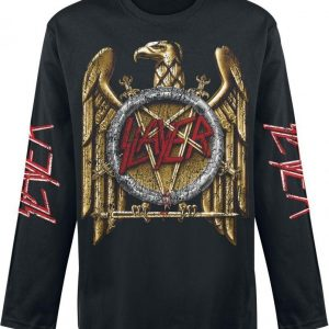 Slayer Distressed Gold Eagle Pitkähihainen Paita