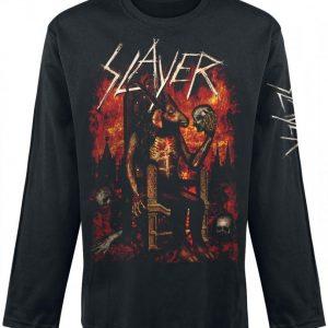 Slayer Enthroned Pitkähihainen Paita