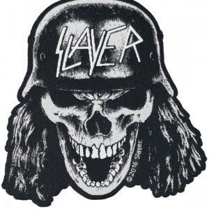 Slayer Wehrmacht Skull Kangasmerkki Musta-Valkoinen