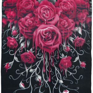 Spiral Blood Rose Fleece-Peitto