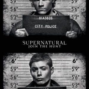 Supernatural Mug Shots Juliste