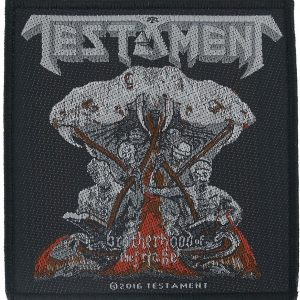 Testament Brotherhood Of The Snake Kangasmerkki 100% Polyesteria