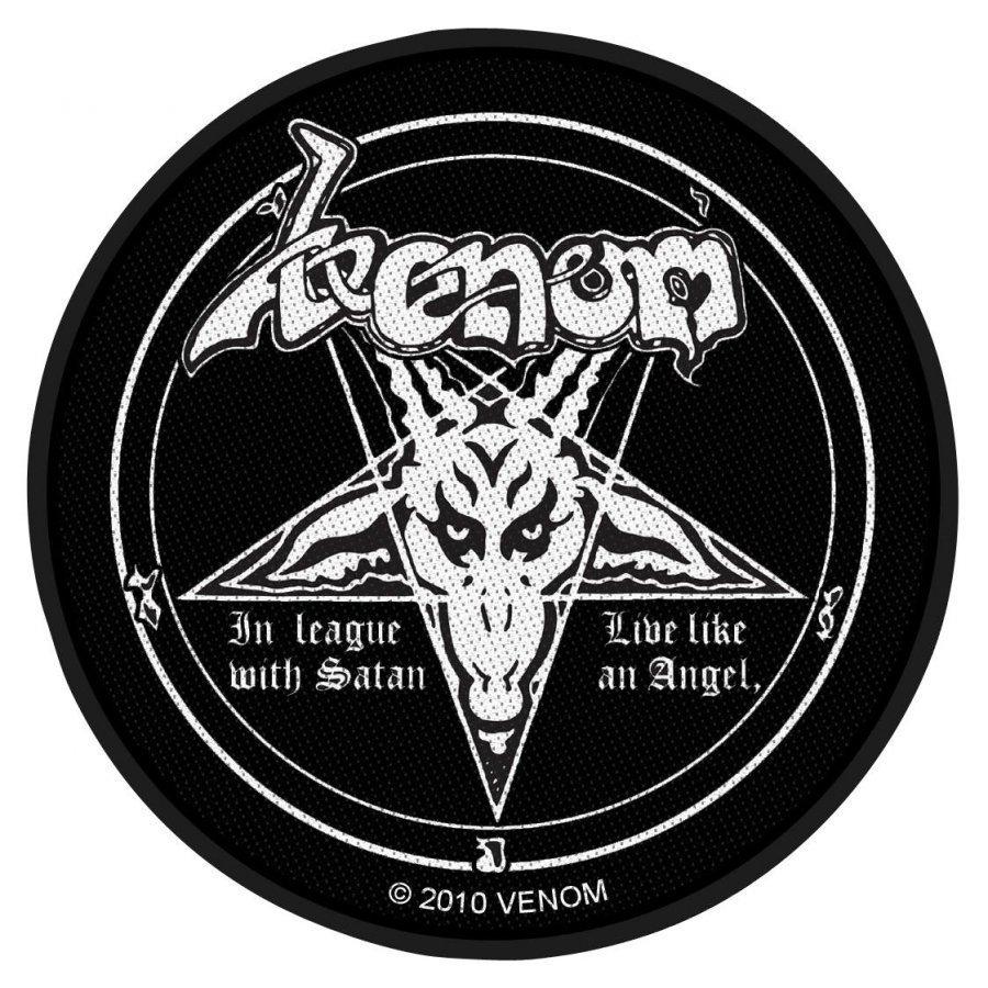 Venom In League With Satan Kangasmerkki 100% Polyesteria