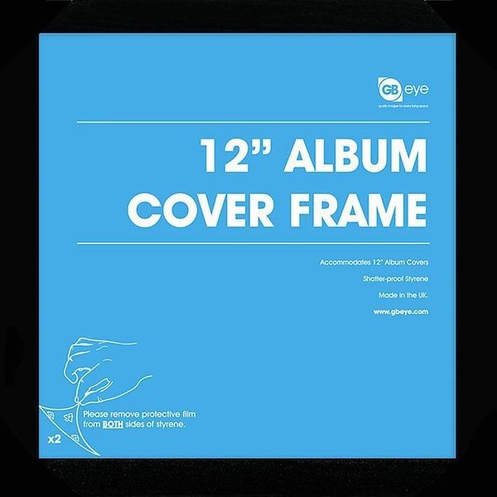 "Vinyl-Rahmen 12 Album"" Julistekehys Musta -"""