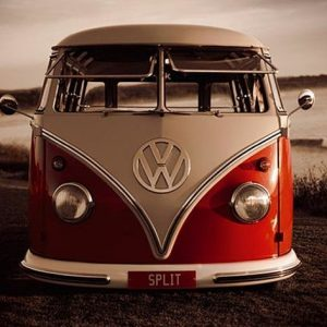 Vw Red Kombi Juliste