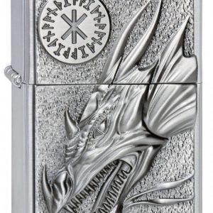 Zippo Dragon With Amulet Bensasytytin